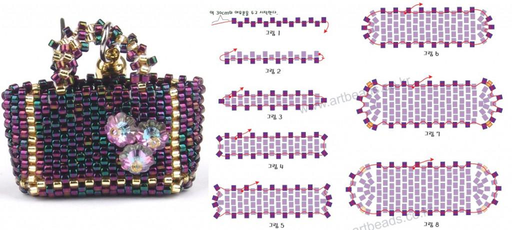 Схема плетения сумочки из