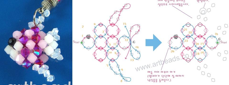 брелок из бисера схема - Практическая схемотехника.