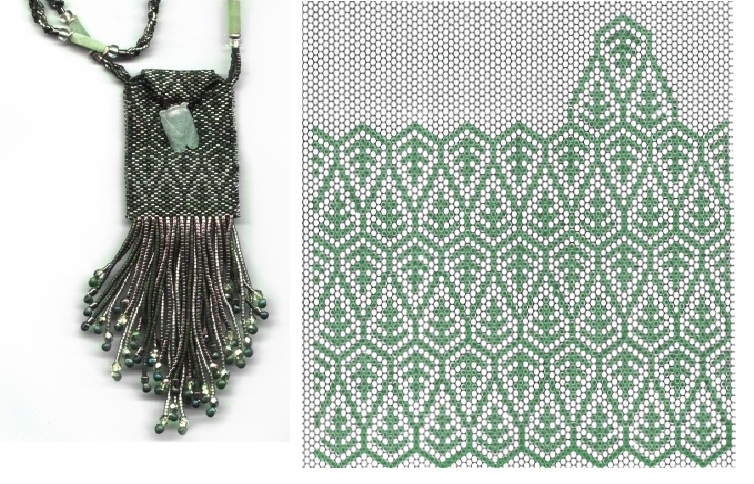 Плетение из бисера чехла на