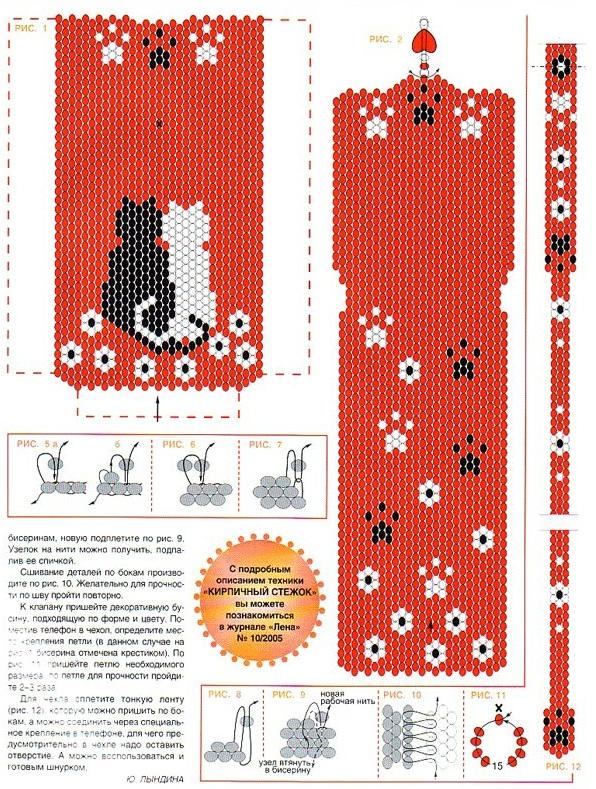 Телефон схема для вышивки
