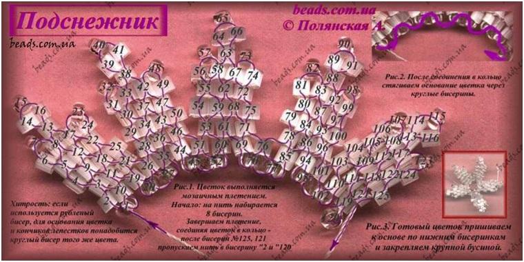 """Схема из книги Марии Федотовой, Галины Валюх  """"Цветы из бисера  """".  Будут вопросы спрашивайте."""