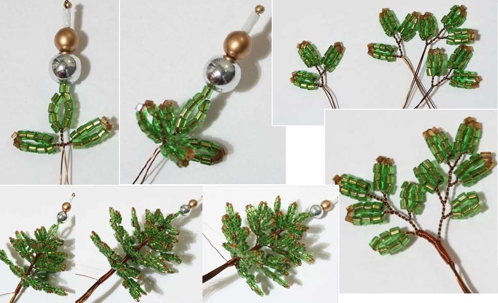 Техника плетения миниатюрной