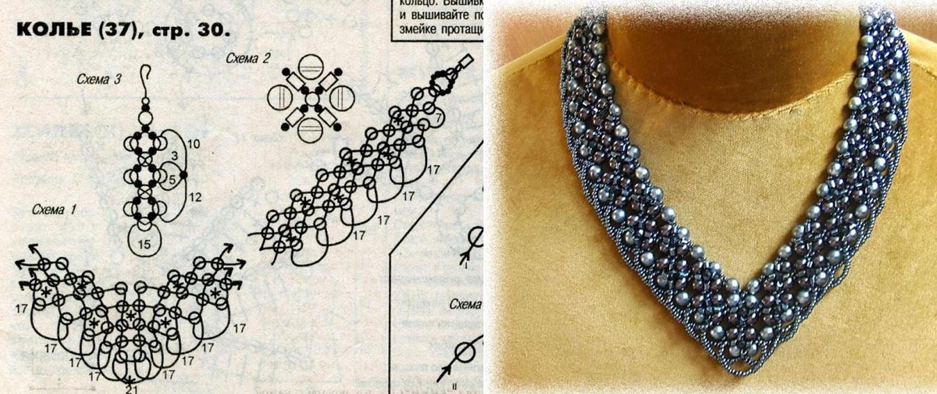 Ожерелье из бусин схемы