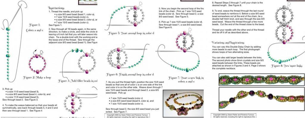 Очень простое в работе и не требует много времени.  Пошаговая схема плетения украшения из бисера.