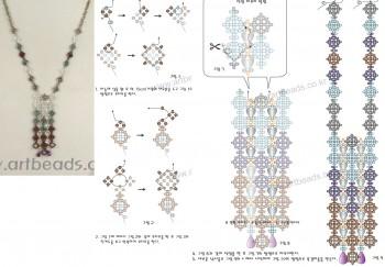 Украшение.  Схема плетения украшений из бисера.