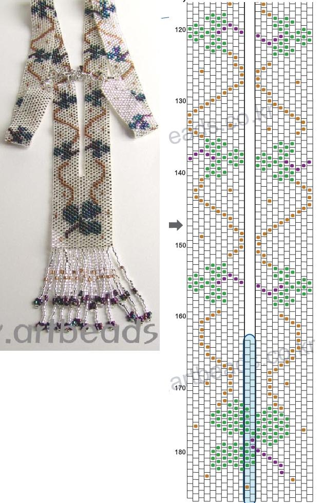 Украшения из бисера схемы плетения.