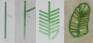 Бисероплетение деревья пальма схема лист - Master class.