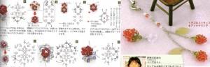 схема плетения малины из кристаллов.