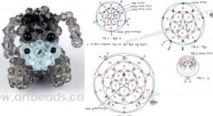 Осел из кристаллов Необходимый материал: - серые кристаллы - черные кристаллы - 2 черные бисерины - 2 черные бусинки...