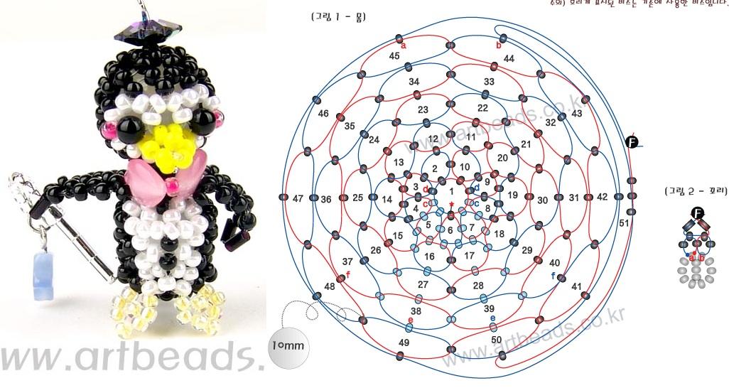 Веселый брелок пингвин