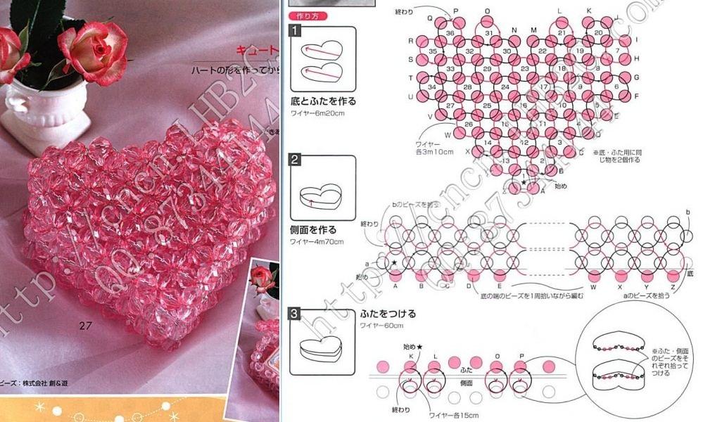 Схема плетения из бисера крест Мода.
