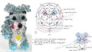 бусина - желтая бусинка - белый бисер - голубые... серо-голубые кристаллы - белые кристаллы - красные кристаллы...