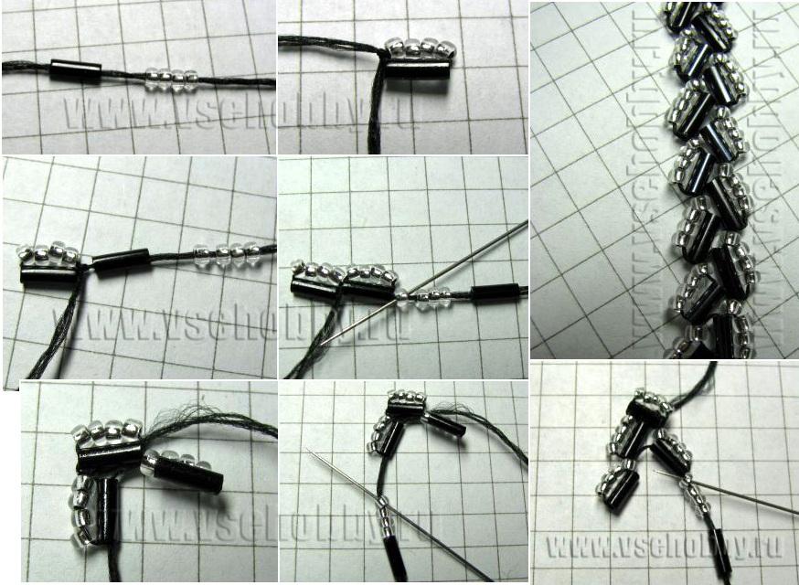 15.12.2011. Бисероплетение - Техника плетения цепочки из стекляруса.  Просмотров: 410 Дата.