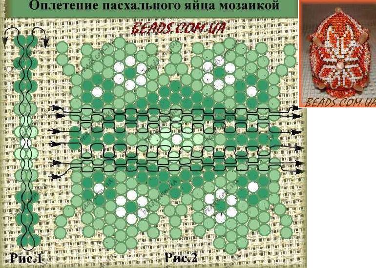 Схема пчелы из мозаики