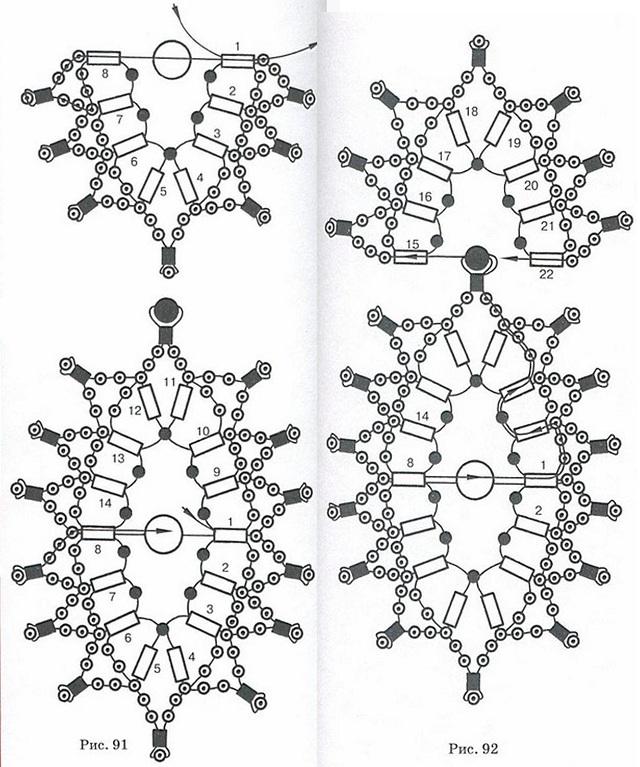 схема плетения колье русская
