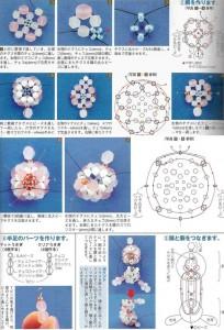 схема плетения зайца из кристаллов.