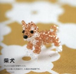 Рыжая такса, кот и собака разнообразные сувениры сплетенные из бисера, бусин и проволоку.  Схема и описание.