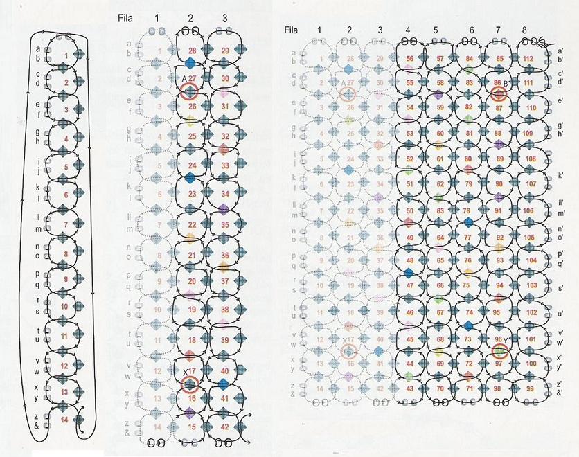 Схемы для плетения поясов из бисера