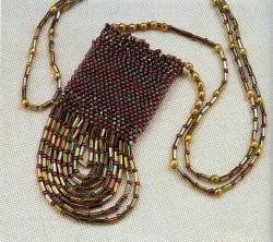 плетение сумочки на шею. сумочка из бисера и стекляруса.