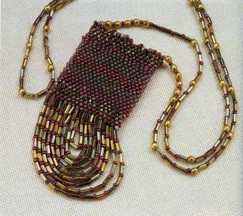 плетение сумочки на шею