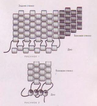 схема сумочки из бисера
