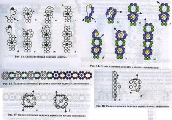 """техника плетения из бисера """"цветочек"""""""
