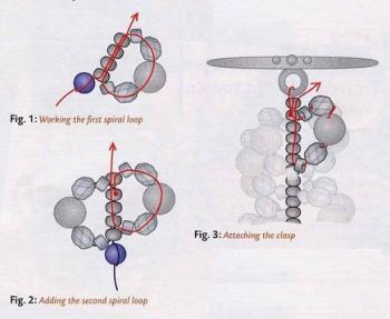 браслет-жгут из бисера и кристаллов
