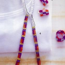 простые украшения из бисера