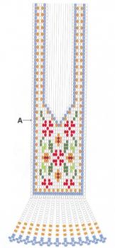 схема гердана из бисера