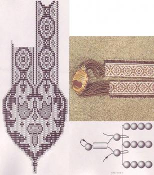 плетение амулета-колье из бисера