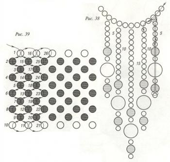 схема бархотки из черного бисера