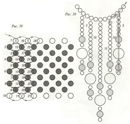 схема бархотки из черного бисера. схема плетения бархотки из бисера.