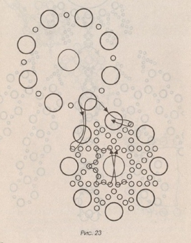 схема колье из розорого бисера