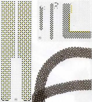 схема черного галстука из бисера