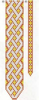 схема плетения народного галстука