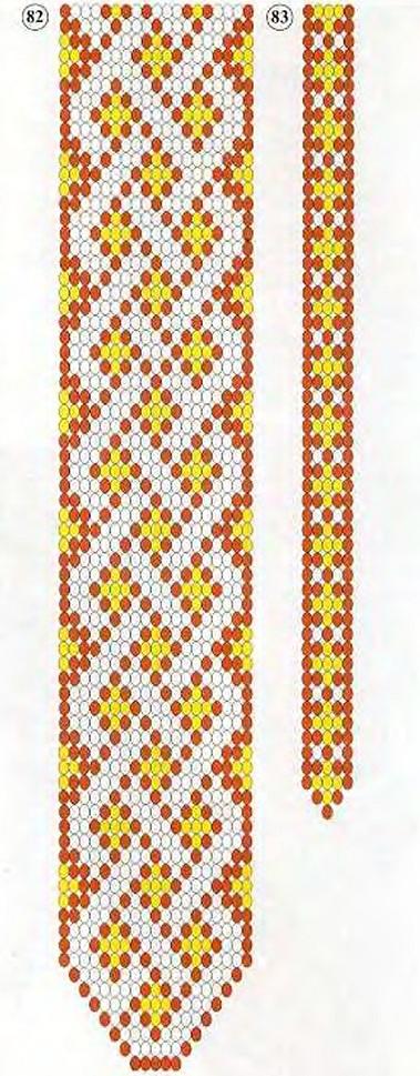 плетем галстук из бисера схема
