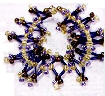 браслет хризантема из бисера