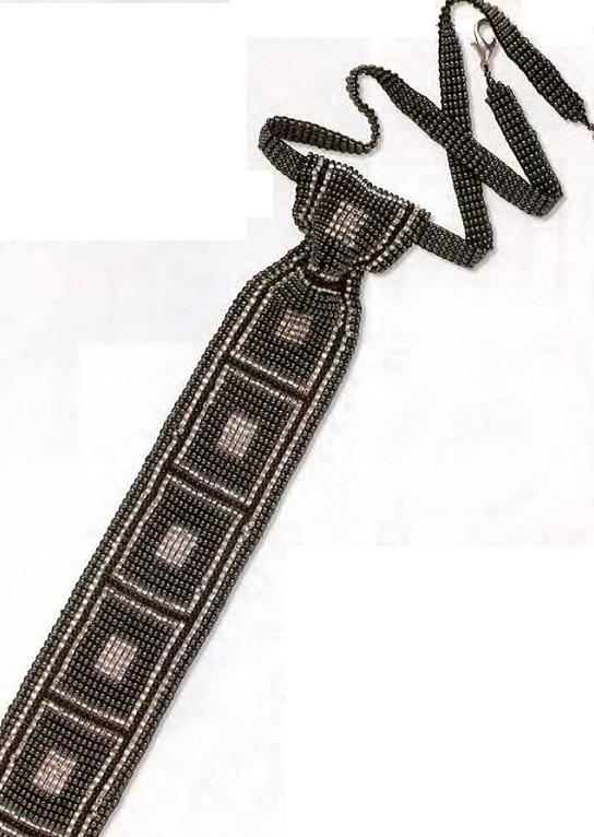 Галстуки из бисера выполнены в технике ручного ткачества(или ткачество на станке).  Ниже представлены галстуки и...