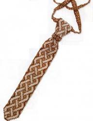 плетем галстук из бисера