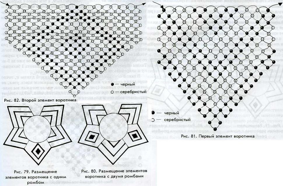 нарядное украшение из бисера и его схема