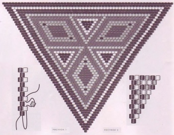 треугольник для заколки или кулона
