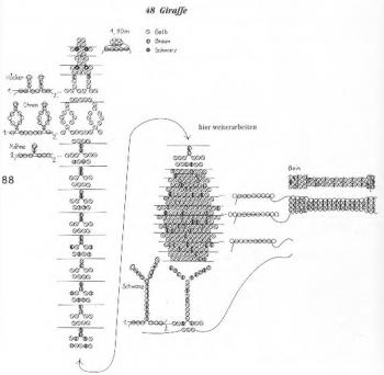 схема плетения жирафа