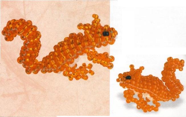 схемы плетения зверушек из бисера - О том, как плести бисером.