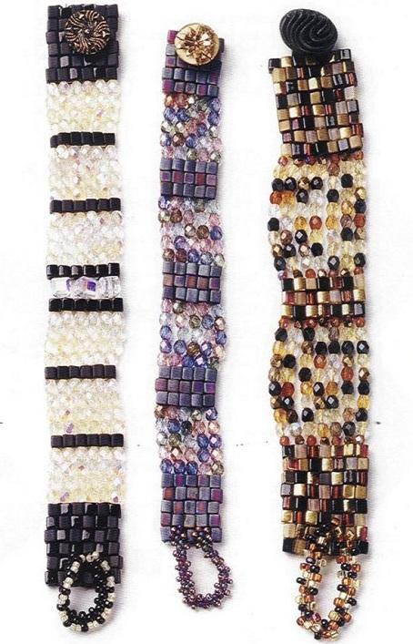 Браслеты из бусин Браслет сплетенный из желтых кристаллов и бисера.  Простая техника плетения.