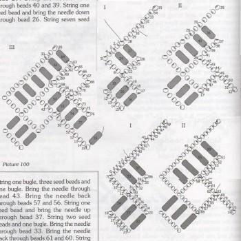 Схема плетения ожерелья.  Отличные украшения из бисера и стекляруса.  Колье с подвесками названо в честь Британии...