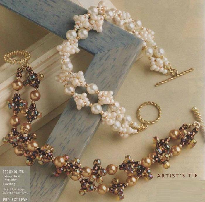 Красивые браслеты из бисера схемы.