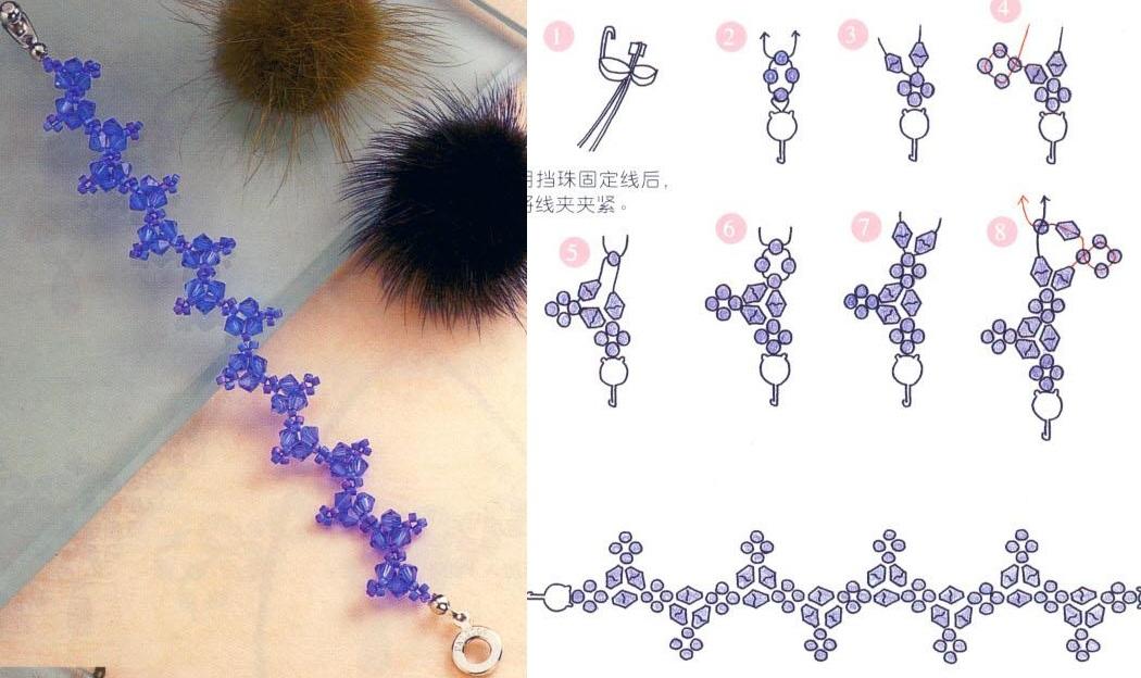 схемы для плетения бисером браслеты.