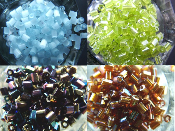 Рубка - рубленый бисер, короткие трубочки из цветного стекла разных размеров (от 1 до 5 мм), цветов и формы...