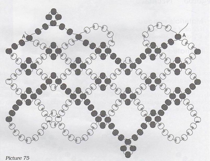 Большие ожерелья из бисера со схемами
