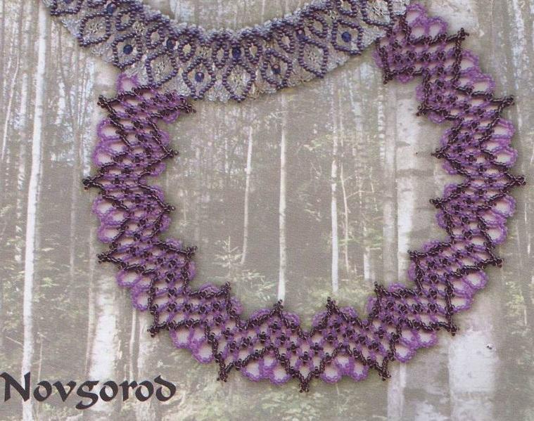 """Ожерелья из бисера; Кольца из бисера; Колье из бисера .  Ожерелье  """"цветочная симфония """" ."""